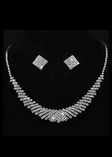In Stock Shining Alloy Wedding Jewelry Sets With Rhinestones