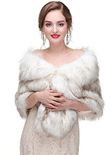 In Stock Outstanding Faux Fur Wedding Shawl